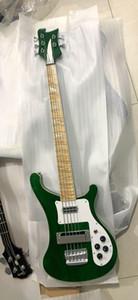 Оптовая Новое прибытие 5 Строка 4003 Rickenbacke Electric Bass Guitar Top Quality В Metal Green 20 0601