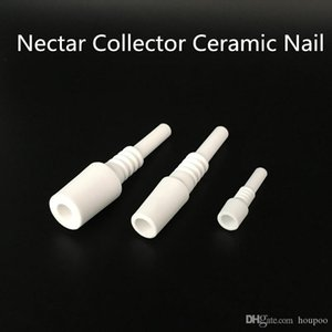 10mm 18mm 14mm Domeless Ceramic Nail Nectar Collector Ceramic Tip Nectar Tip Smok Tools Gadgets for Bongs