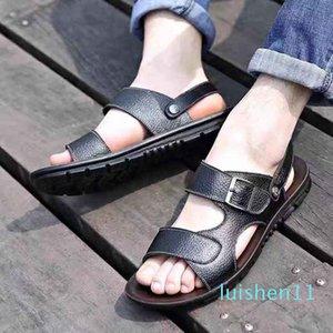 Hommes Femmes Sandales Chaussures Diapo été Mode plat large Slippery Sandales Slipper Flip Flop shoe10 P04 L11