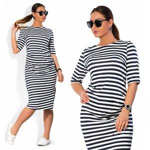 5XL 6XL Large Size 2019 Spring Autumn Dress Big Size Dress White Black Striped Dresses Plus Size Women Clothing Belt Vestidos CX200707