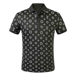 2020SS Luxury Mens Designer Polo T shirts Summer Short Sleeved Turn Down Collar Short Sleeved Tops Polo Shirts M-3XL