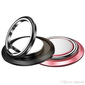 Support voiture Porte-téléphone Annulaire Boucle magnétique Vent Air de support de téléphone portable universel One Step montage renforcé Magnet Secure Safe Grip