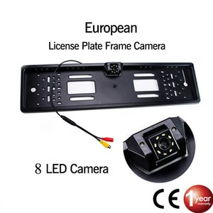Targa di immatricolazione di visione notturna impermeabile macchina fotografica d'inversione di sostegno della luce Car Rear View Camera Europea EU 4 o 8 LED