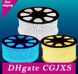Fanlive 30 mètres / Lot) étanche 220v -240v 5050 flexible bande de LED ruban 60LEDs / M Rouge Vert Bleu Jaune Blanc