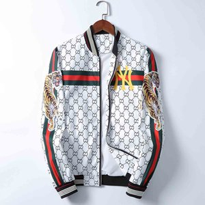 2020 hot new products popular pattern design casual men's jacket fashion baseball uniform jacket stand collar cardigan jacket
