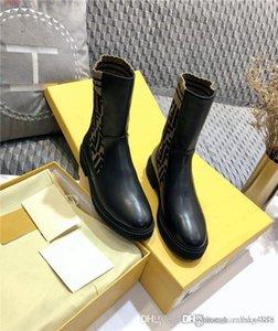 Для женщин Носок типа High Top Half Boots Black Oblique жаккард и Smooth телячьей пинетки Низкий каблук ботинка с полной упаковки