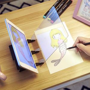 Óptica de proyección Dibujo Dibujo a lápiz Junta reflexión especular Atenuación Soporte Holder Linyi Pintura placa de espejo Copiar tabla Y200709