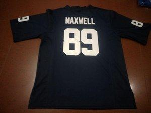 Мужчины Penn State Nittany Lionss Колтон Максвелл # 89 реальной Полной вышивка колледж Джерси размера S-4XL или настраиваемый любое имя или номер джерси