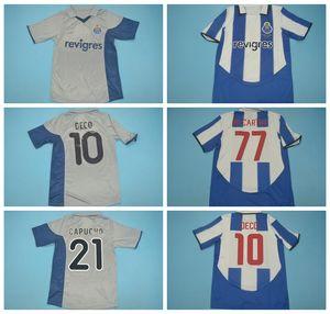 2001 2002 2003 2004 Football Porto Retro Jersey Vintage 10 DECO 21 CAPUCHO 77 McCARTHY 4 CARVALHO Derlei MANICHE MACIEL football Kits chemise