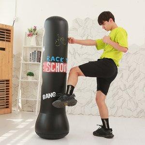 لعبة جديدة للنفخ الملاكمة أسود أخضر الأطفال نفخ الملاكمة دعامة لعبة اللياقة البدنية قرع دعامة