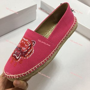 2020 New Arrival Women's Low-Top Tiger Paris Espadrilles Shoe Casual Sneakers Canvas Sheep Skin Leather Xshfbcl Flat Shoes 35-44