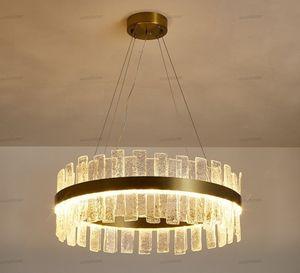 K9 Crystal Chandeliers Gold Chandelier Lighting Hang Lamp Cristal Luster Kitchen Island Led lights Indoor Light Fixtures LLFA