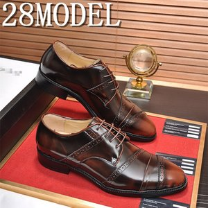 mens formal shoes genuine leather oxford shoe for men black 2020 dress shoes wedding shoes slipon leather brogues