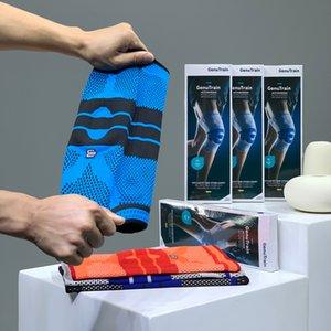4 Цвет Спорт Дышащих наколенников Длинных Anti-Collision Леггинсы Pad Leg Колено Баскетбол Футбол Kneepad Защитное снаряжение