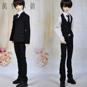 Accept Custom NEW Black Gentleman Suit 1 3 1 4 SD MSD LUTS BJD Doll Clothes 1Vlp#