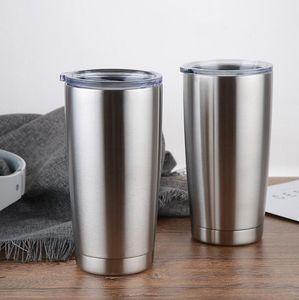 20oz Stainless Steel Tumblers Cups Vacuum Insulated Travel Mug Metal Water Bottle Beer Coffee Mugs With Lid VT0439