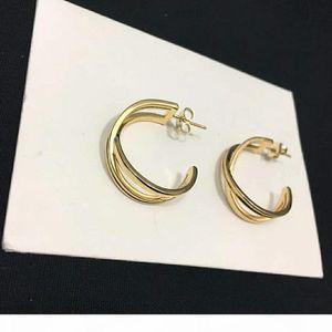 R Hot Selling Explosive Style Simple Style X Cross Plating Fashion Designer Earrings Luxury Designer Jewelry Women Earrings