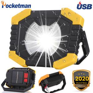 Luz 100W LED de trabajo de 180 grados de las linternas ajustables incorporado de Spotlight de baterías recargables de energía solar lámpara de camping al aire libre