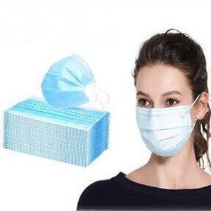 Elástica nave de DHL! Profesión Máscara Máscara de 3 capas PM2.5 no tejidos desechables boca suave y transpirable cara