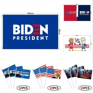 ترامب العلم 90 * 150CM 16 أنماط بايدن بيرني دونالد ترامب 2020 أعلام دبابات أمريكية الرئاسي ترامب الانتخابات اليد DDA220