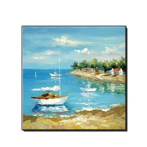 Home Decor HD Spray Printed Mordern Seaside Beach Scenery Oil Painting Wall Art Picture on Canvas for Living Room No Framed