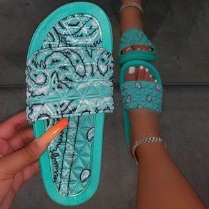 delle donne Comfy sciarpa Slip-On Pantofole scorrere tacchi bassi Shoes Casual per Scarpe Donna 2020 New Beach sandali della piattaforma morbida femmina