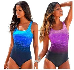 Plus Size Swimwear Women One Piece 2020 Sexy One Piece Swimsuit Women Vintage High Neck Bandage Cross Back Bathing Suit