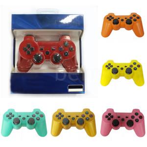 صدمة مزدوجة 3 بلوتوث اللاسلكية تحكم لعبة PS3 الاهتزاز المقود غمبد لعبة وحدة تحكم مع صندوق البيع بالتجزئة