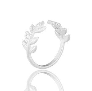 Fine Jewelry Anéis flor folhas de cristal Design Anel Mulheres Moda dedo anelar jóias dom AADUOXJZ