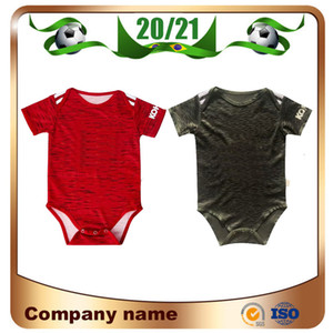 20/21 United # 6 Pogba Baby Soccer Jersey 2020 # 10 Rashford Kids Kit 축구 셔츠 Lingard 9-18 개월 어린이 셔츠 축구