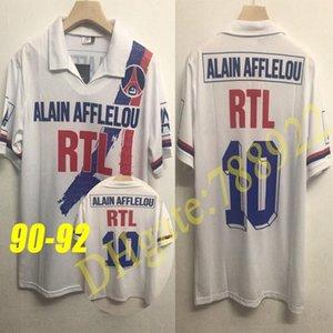 w1993 - 1994 Version Retro Paris Maillots de football 93/94 WEAH GINOLA Wörns SIMONE AVELAINE 1998 1999 LEROY shirt à manches courtes uniforme de football