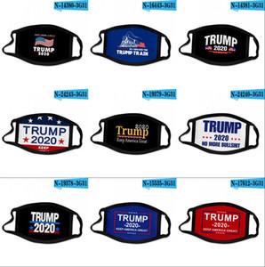На складе Donald Trump Дизайнер Luxury Многоразовый моющийся хлопчатобумажной ткани Мода Рот лица Маски США Женщина Мужчины Унисекс 17 Styles DHL голодает корабль