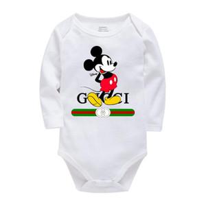 Новорожденные этикетки Конструктор Baby Rompers нашивки с длинным рукавом ребенка Комбинезон 5 цветов младенца мальчиков Одежда для девочек Младенческая Romper