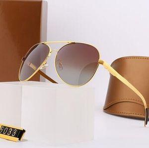 4 Colors Mens Sunglasses Summer Designer Sunglasses Man Metal Goggle Glasses UV400 5033 Excellent Quality with Box