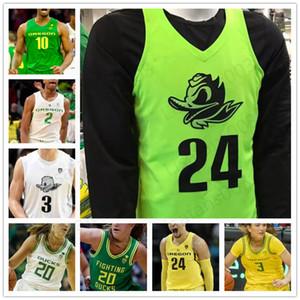 NCAA Oregon Basketbol Jersey 13 Chandler Lawson 10 Shakur Juiston 32 Anthony Mathis 0 Will Richardson özel erkek kadın gençlik Ördekler