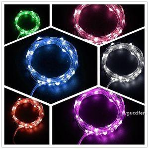 Festival Decor Star Lamp Button Battery Color Led String Copper Wire Decoration Warm Pure White Light With Multicolor 3 1yl ff