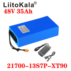LiitoKala 48V 35Ah 21700 5000mAh batteria 13S7P ebike 20A BMS batteria 48v moto batteria al litio Pack Per elettrico Scooter elettrico
