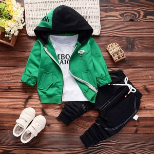FgiYN 18 new autumn casual edition 0-4 years old baby wear cartoon Digital 5 long sleeve hoodie Hoodie wear children's Children's pants thre