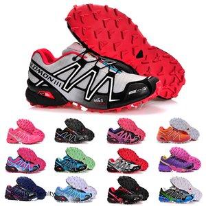 2020 Speed Cross 3 CS III Running Shoes Women Black Pink Silver Red Blue Outdoor SpeedCross 3s Hiking Womens Sports Sneakers