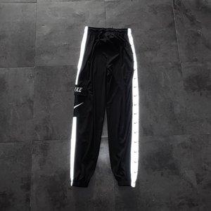 nk hommes Joggers à glissière Pantalons simple Fitness Vêtements de sport Survêtement Bottoms Skinny Pantalons Pantalon Gymnases Noir Jogger Piste Pantalons 9168