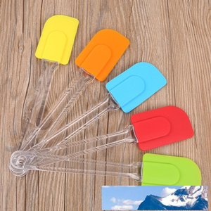 New Silicone Spatula Baking Scraper Cream Butter Handled Cake Spatula Cooking Cake Brushes Kitchen Utensil Baking Tools Free shipping