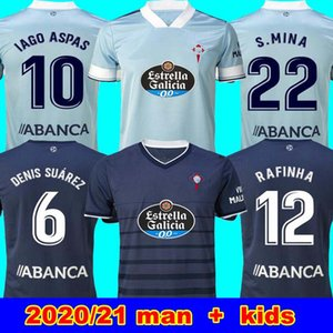 neue 20 21 RC Celta de Vigo Fußball-Trikot Lobotka IAGO ASPAS Santl MINA Fußball-Hemd SISTO BOUFAL Spanien 2020 21 VIGO Mann + CELTA Kinder