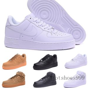 With box One 1 Dunk Running shoes for men women Black White Pink Mens Sneakers Ones High Low Cut Wheat Brown Sports Trainer NDF05