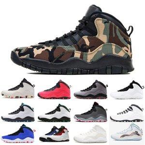 Descuento del 10 10s zapatos de baloncesto de los hombres Camo Ember Glow acero infrarrojos gris para hombre de las zapatillas de deporte al aire libre respirables Zapatos de la zapatilla 7-13
