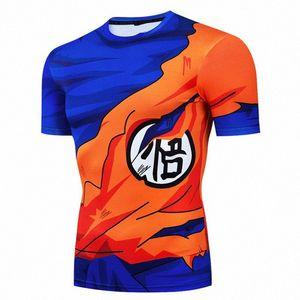 Z Goku tişört Erkekler Sıkıştırma Gömlek Cosplay Kostüm Tshirts Soğuk Baskı 3D Nefes C3zP # Tops