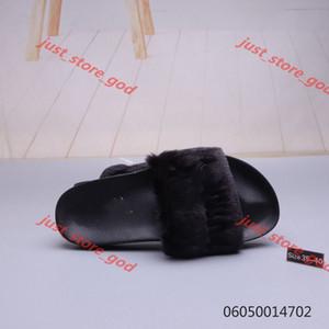 2020 Leadcat Fenty Rihanna Shoes for Women Slippers Indoor Sandals Girls Fashion Scuffs Pink Black Grey Fur Slides Star xshfbcl Women's Sh