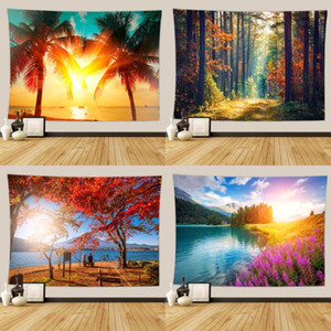 Newest Flower Wall Hanging Tapestry Decor Bedroom Bedspread Yoga Mat Beach Travel Camping Blanket Sleeping Carpets