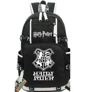 Hogwarts Harry Backpack Pack Daypack Bag Badge Laptop Cartoon Packsack all'aperto Potter Sport School Schoolbag Zaino Giorno H Ltwad