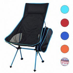 HooRu légère Chaise Portable Plage Pêche pliante Chaise d'extérieur Dossier Backpacking chaises de camping jardin avec sac de transport vKzF #