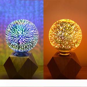 3D Fireworks Ampul Yıldız Led ST64 E27 Voltaj: 85-265V 5w Edison Ampul Işık Tatil Dekorasyon Bar Cam LED Lamba